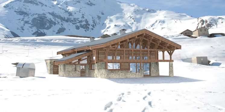 WOW! Take a look at this stunning new ski in/out chalet on the slopes of Arcs 2000